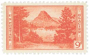 1934 9c National Parks: Glacier National Park, Montana