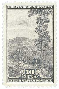 1934 10c National Parks: Great Smoky Mountains