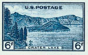 1935 6c National Parks: Crater Lake, imperf, no gum