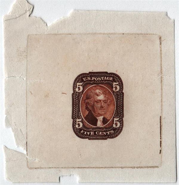1861 5c brown