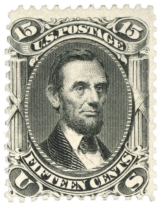 1866 15c Lincoln, black