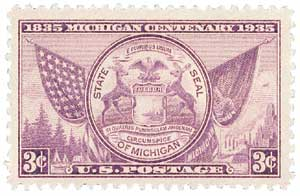1935 3c Michigan Centenary