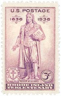 1936 3c Rhode Island Tercentenary