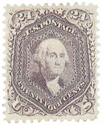 1862 24c Washington, lilac