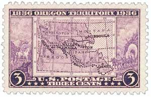 1936 3c Oregon Territory Centennial