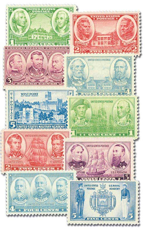 Complete Set, 1936-37 Army/Navy Issue 10V