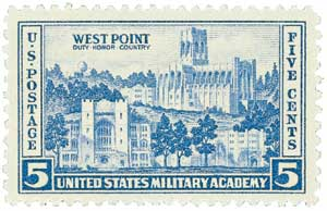 1937 5c Army and Navy: West Point