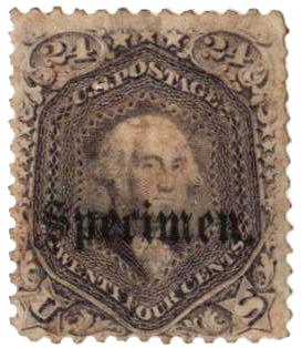 1861-66 24c lilac