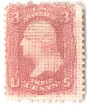1867 3c Essay, perf 12