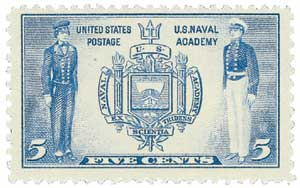 1937 5c Seal of U.S. Naval Academy