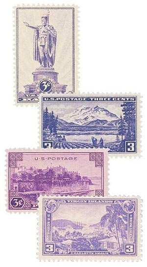 Complete Set, 1937 Territorial Issues  4V