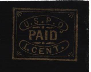 1850-52 1c gold, black, glazed