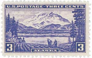 1937 3c Alaska