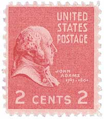 1938 2c John Adams For Sale At Mystic Stamp Company