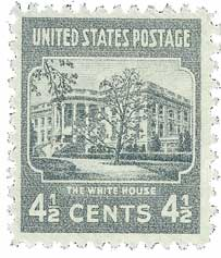 1938 4 1/2c White House, dark gray