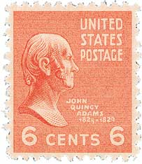 1938 6c John Quincy Adams, orange
