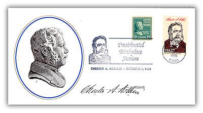Item #81107B – Commemorative cover marking Arthur's 157th birthday.