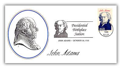 1986 Birthplaces of Am.Pres.-J.Adams Single