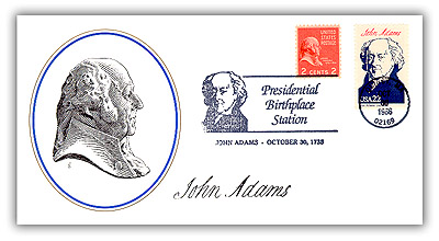 Item #81110B – Commemorative cover marking Adams' birthday.