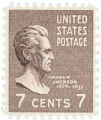 1938 7c Jackson, brown