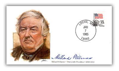 1985 President Millard Fillmore Commemorative Cover