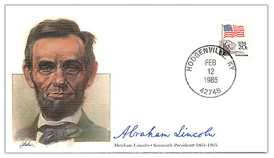 1985 PRS Abraham Lincoln Commemorative Cover