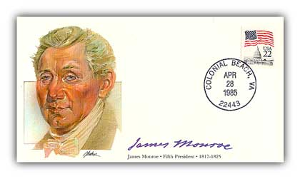 1985 PRS James Monroe Commemorative Cover