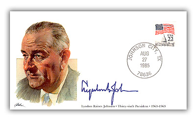 1985 PRS Lyndon B Johnson Commemorative Cover