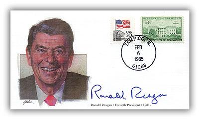 1985 PRS Ronald Reagan Deluxe Commemorative Cover