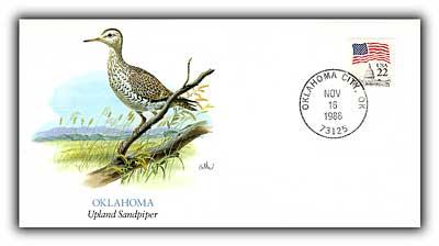 1986 Oklahoma Shorebird Commemorative Cover