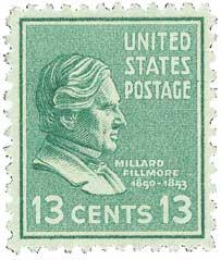 1938 13c Fillmore, green