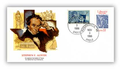 Item #81837 – Commemorative cover marking Austin's 193rd birthday.