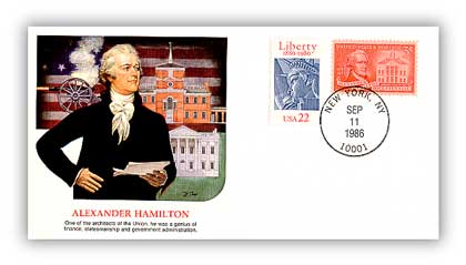 1986 Alexander Hamilton/Shapers of Am.Liberty