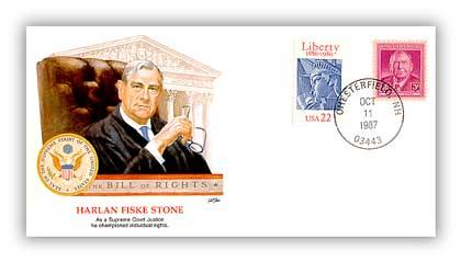 Commemorative cover marking Stone's 115th birthday