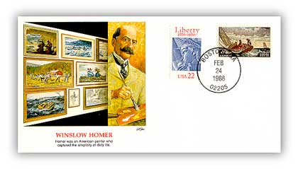 Item #81885 – Commemorative cover marking Homer's 152nd birthday.