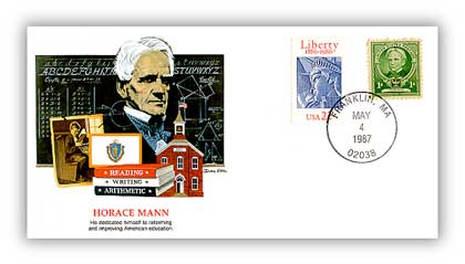 1987 Horace Mann Commemorative Cover