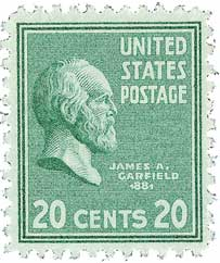 1938 Garfield 20c Green For Sale At Mystic Stamp Company