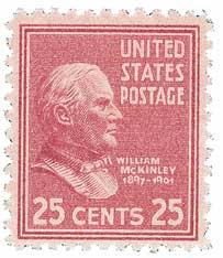 1938 25c McKinley, dark rose