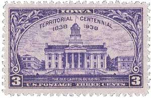 1938 3c Iowa Territory Centennial