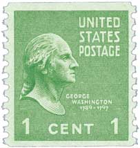 1939 1c George Washington, green