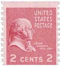 1939 2¢ John Adams stamp