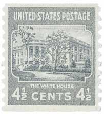 1939 White House Pf 10V 4-1/2c