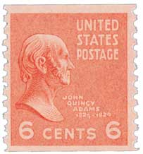 1939 6c John Quincy Adams, red orange