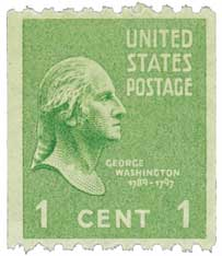 1939 1c George Washington, green