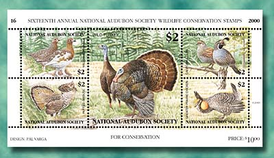 2000 Audubon Stamp Sheetlet