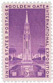 1939 3c Golden Gate International Exposi