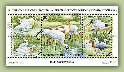2005 Audubon Whooping Crane Sheetlet