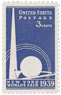 1939 3c New York World's Fair