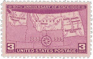 1939 3c Four States - Statehood