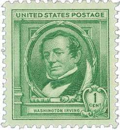 1940 Famous Americans: 1c Washington Irving
